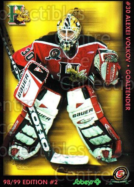 1998-99 Halifax Mooseheads Series Two #23 Alexei Volkov<br/>4 In Stock - $3.00 each - <a href=https://centericecollectibles.foxycart.com/cart?name=1998-99%20Halifax%20Mooseheads%20Series%20Two%20%2323%20Alexei%20Volkov...&quantity_max=4&price=$3.00&code=539854 class=foxycart> Buy it now! </a>