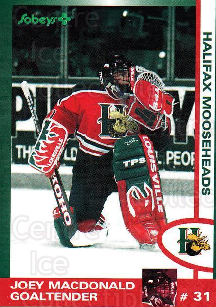1997-98 Halifax Mooseheads Series Two #9 Joey MacDonald<br/>1 In Stock - $5.00 each - <a href=https://centericecollectibles.foxycart.com/cart?name=1997-98%20Halifax%20Mooseheads%20Series%20Two%20%239%20Joey%20MacDonald...&quantity_max=1&price=$5.00&code=539890 class=foxycart> Buy it now! </a>