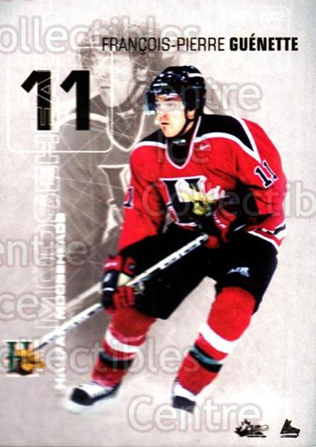 2001-02 Halifax Mooseheads #10 Francois-Pierre Guenette<br/>1 In Stock - $3.00 each - <a href=https://centericecollectibles.foxycart.com/cart?name=2001-02%20Halifax%20Mooseheads%20%2310%20Francois-Pierre...&quantity_max=1&price=$3.00&code=539894 class=foxycart> Buy it now! </a>