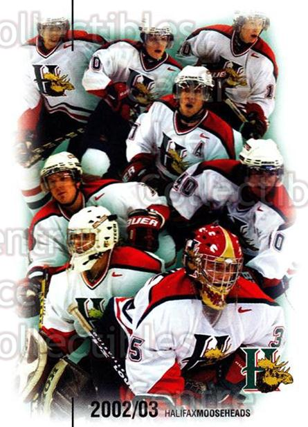 2002-03 Halifax Mooseheads #23 Header Card, Checklist<br/>7 In Stock - $3.00 each - <a href=https://centericecollectibles.foxycart.com/cart?name=2002-03%20Halifax%20Mooseheads%20%2323%20Header%20Card,%20Ch...&price=$3.00&code=539897 class=foxycart> Buy it now! </a>