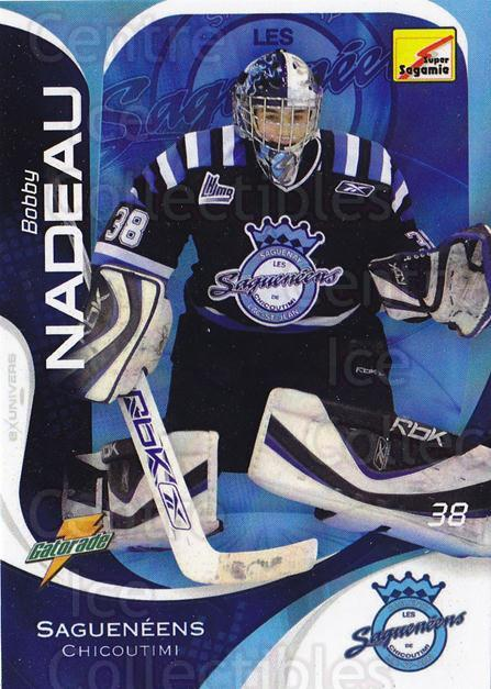 2007-08 Chicoutimi Sagueneens #1 Bobby Nadeau<br/>2 In Stock - $3.00 each - <a href=https://centericecollectibles.foxycart.com/cart?name=2007-08%20Chicoutimi%20Sagueneens%20%231%20Bobby%20Nadeau...&price=$3.00&code=539937 class=foxycart> Buy it now! </a>
