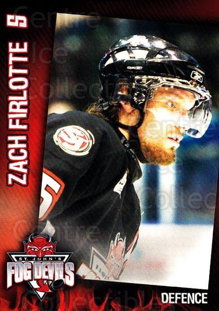 2006-07 St. Johns Fog Devils #9 Zack Firlotte<br/>1 In Stock - $3.00 each - <a href=https://centericecollectibles.foxycart.com/cart?name=2006-07%20St.%20Johns%20Fog%20Devils%20%239%20Zack%20Firlotte...&quantity_max=1&price=$3.00&code=540017 class=foxycart> Buy it now! </a>