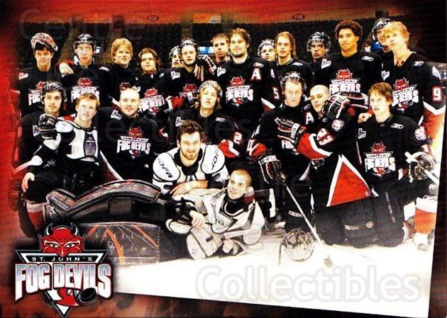 2006-07 St. Johns Fog Devils #27 St. Johns Fog Devils, Team Photo<br/>2 In Stock - $3.00 each - <a href=https://centericecollectibles.foxycart.com/cart?name=2006-07%20St.%20Johns%20Fog%20Devils%20%2327%20St.%20Johns%20Fog%20D...&quantity_max=2&price=$3.00&code=540035 class=foxycart> Buy it now! </a>