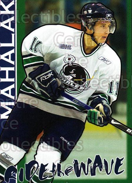2007-08 Plymouth Whalers #18 RJ Mahalak<br/>7 In Stock - $3.00 each - <a href=https://centericecollectibles.foxycart.com/cart?name=2007-08%20Plymouth%20Whalers%20%2318%20RJ%20Mahalak...&price=$3.00&code=540160 class=foxycart> Buy it now! </a>