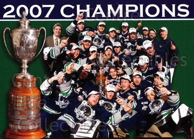 2007-08 Plymouth Whalers #29 OHL Champions, Team Photo<br/>5 In Stock - $2.00 each - <a href=https://centericecollectibles.foxycart.com/cart?name=2007-08%20Plymouth%20Whalers%20%2329%20OHL%20Champions,%20...&price=$2.00&code=540171 class=foxycart> Buy it now! </a>