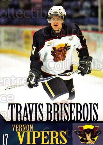 2005-06 Vernon Vipers #3 Travis Brisebois<br/>2 In Stock - $3.00 each - <a href=https://centericecollectibles.foxycart.com/cart?name=2005-06%20Vernon%20Vipers%20%233%20Travis%20Briseboi...&quantity_max=2&price=$3.00&code=540498 class=foxycart> Buy it now! </a>