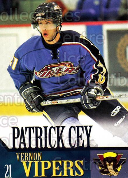2005-06 Vernon Vipers #4 Patrick Cey<br/>2 In Stock - $3.00 each - <a href=https://centericecollectibles.foxycart.com/cart?name=2005-06%20Vernon%20Vipers%20%234%20Patrick%20Cey...&quantity_max=2&price=$3.00&code=540499 class=foxycart> Buy it now! </a>