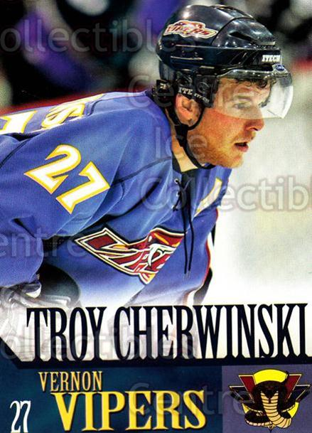2005-06 Vernon Vipers #5 Troy Cherwinski<br/>2 In Stock - $3.00 each - <a href=https://centericecollectibles.foxycart.com/cart?name=2005-06%20Vernon%20Vipers%20%235%20Troy%20Cherwinski...&quantity_max=2&price=$3.00&code=540500 class=foxycart> Buy it now! </a>