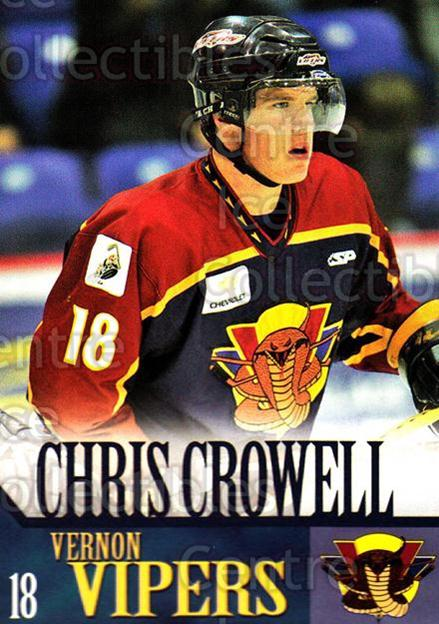 2005-06 Vernon Vipers #7 Chris Crowell<br/>1 In Stock - $3.00 each - <a href=https://centericecollectibles.foxycart.com/cart?name=2005-06%20Vernon%20Vipers%20%237%20Chris%20Crowell...&quantity_max=1&price=$3.00&code=540502 class=foxycart> Buy it now! </a>