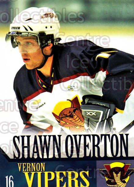 2005-06 Vernon Vipers #17 Shawn Overton<br/>2 In Stock - $3.00 each - <a href=https://centericecollectibles.foxycart.com/cart?name=2005-06%20Vernon%20Vipers%20%2317%20Shawn%20Overton...&quantity_max=2&price=$3.00&code=540512 class=foxycart> Buy it now! </a>