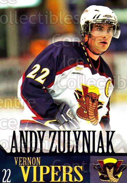 2005-06 Vernon Vipers #22 Andy Zulyniak<br/>1 In Stock - $3.00 each - <a href=https://centericecollectibles.foxycart.com/cart?name=2005-06%20Vernon%20Vipers%20%2322%20Andy%20Zulyniak...&quantity_max=1&price=$3.00&code=540517 class=foxycart> Buy it now! </a>