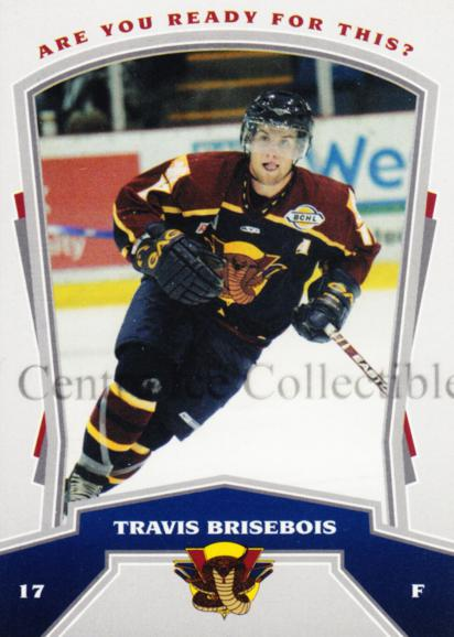 2007-08 Vernon Vipers #3 Travis Brisebois<br/>4 In Stock - $3.00 each - <a href=https://centericecollectibles.foxycart.com/cart?name=2007-08%20Vernon%20Vipers%20%233%20Travis%20Briseboi...&quantity_max=4&price=$3.00&code=540523 class=foxycart> Buy it now! </a>