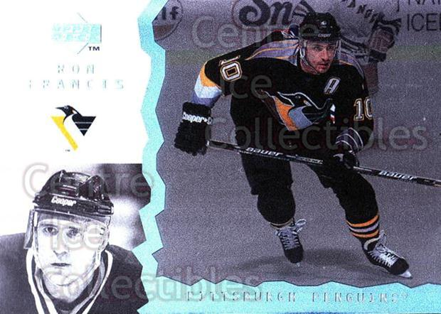 1996-97 UD Ice #55 Ron Francis<br/>10 In Stock - $1.00 each - <a href=https://centericecollectibles.foxycart.com/cart?name=1996-97%20UD%20Ice%20%2355%20Ron%20Francis...&quantity_max=10&price=$1.00&code=54054 class=foxycart> Buy it now! </a>