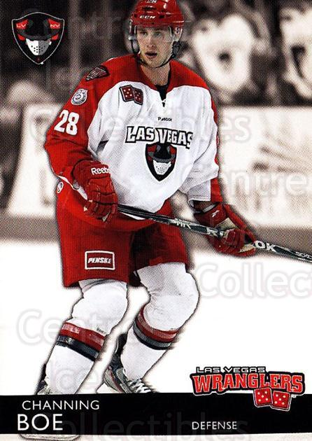 2012-13 Las Vegas Wranglers #3 Channing Boe<br/>1 In Stock - $3.00 each - <a href=https://centericecollectibles.foxycart.com/cart?name=2012-13%20Las%20Vegas%20Wranglers%20%233%20Channing%20Boe...&quantity_max=1&price=$3.00&code=540630 class=foxycart> Buy it now! </a>