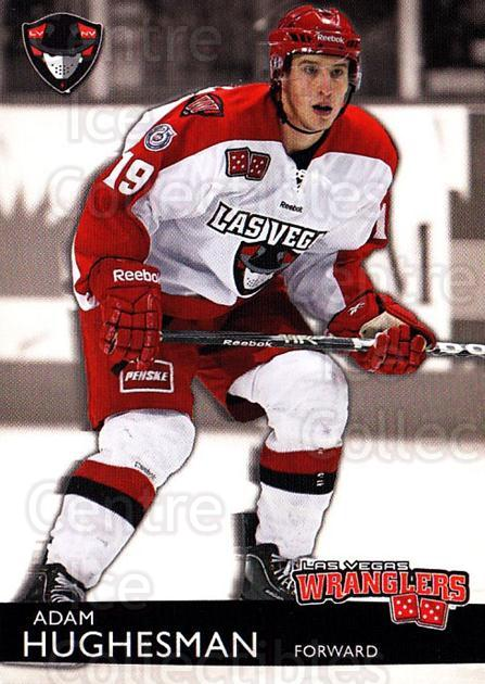 2012-13 Las Vegas Wranglers #11 Adam Hughesman<br/>1 In Stock - $3.00 each - <a href=https://centericecollectibles.foxycart.com/cart?name=2012-13%20Las%20Vegas%20Wranglers%20%2311%20Adam%20Hughesman...&quantity_max=1&price=$3.00&code=540638 class=foxycart> Buy it now! </a>