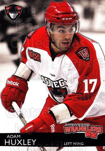 2012-13 Las Vegas Wranglers #12 Adam Huxley<br/>1 In Stock - $3.00 each - <a href=https://centericecollectibles.foxycart.com/cart?name=2012-13%20Las%20Vegas%20Wranglers%20%2312%20Adam%20Huxley...&quantity_max=1&price=$3.00&code=540639 class=foxycart> Buy it now! </a>