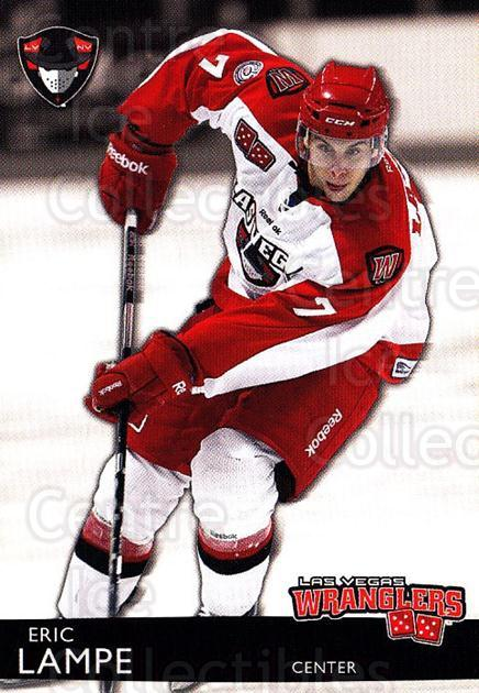2012-13 Las Vegas Wranglers #14 Eric Lampe<br/>1 In Stock - $3.00 each - <a href=https://centericecollectibles.foxycart.com/cart?name=2012-13%20Las%20Vegas%20Wranglers%20%2314%20Eric%20Lampe...&quantity_max=1&price=$3.00&code=540641 class=foxycart> Buy it now! </a>