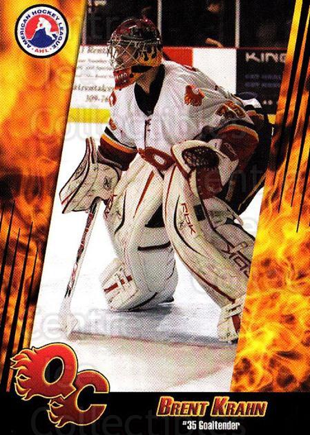 2007-08 Quad City Flames #10 Brent Krahn<br/>1 In Stock - $3.00 each - <a href=https://centericecollectibles.foxycart.com/cart?name=2007-08%20Quad%20City%20Flames%20%2310%20Brent%20Krahn...&quantity_max=1&price=$3.00&code=540661 class=foxycart> Buy it now! </a>