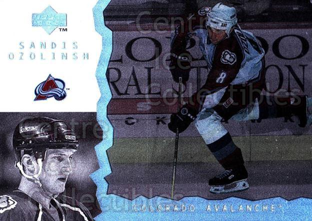 1996-97 UD Ice #80 Sandis Ozolinsh<br/>9 In Stock - $1.00 each - <a href=https://centericecollectibles.foxycart.com/cart?name=1996-97%20UD%20Ice%20%2380%20Sandis%20Ozolinsh...&quantity_max=9&price=$1.00&code=54080 class=foxycart> Buy it now! </a>