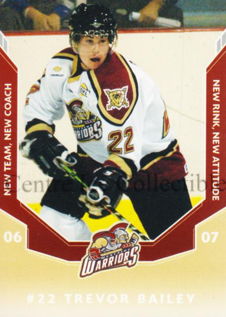 2006-07 Westside Warriors #3 Trevor Bailey<br/>1 In Stock - $3.00 each - <a href=https://centericecollectibles.foxycart.com/cart?name=2006-07%20Westside%20Warriors%20%233%20Trevor%20Bailey...&quantity_max=1&price=$3.00&code=540829 class=foxycart> Buy it now! </a>