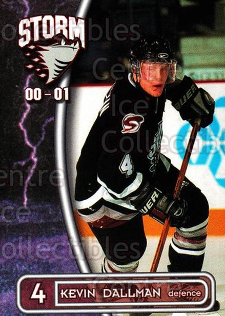 2000-01 Guelph Storm #9 Kevin Dallman<br/>1 In Stock - $3.00 each - <a href=https://centericecollectibles.foxycart.com/cart?name=2000-01%20Guelph%20Storm%20%239%20Kevin%20Dallman...&quantity_max=1&price=$3.00&code=540917 class=foxycart> Buy it now! </a>