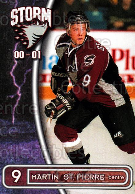 2000-01 Guelph Storm #26 Martin St. Pierre<br/>1 In Stock - $3.00 each - <a href=https://centericecollectibles.foxycart.com/cart?name=2000-01%20Guelph%20Storm%20%2326%20Martin%20St.%20Pier...&quantity_max=1&price=$3.00&code=540922 class=foxycart> Buy it now! </a>
