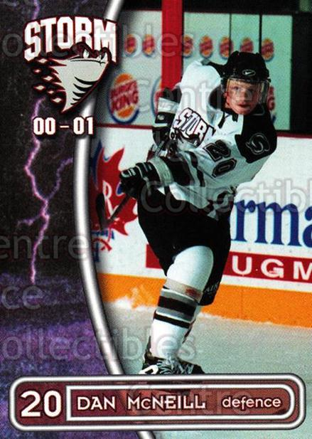 2000-01 Guelph Storm #20 Dan McNeill<br/>3 In Stock - $3.00 each - <a href=https://centericecollectibles.foxycart.com/cart?name=2000-01%20Guelph%20Storm%20%2320%20Dan%20McNeill...&quantity_max=3&price=$3.00&code=540931 class=foxycart> Buy it now! </a>