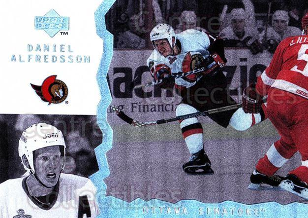 1996-97 UD Ice #95 Daniel Alfredsson<br/>10 In Stock - $1.00 each - <a href=https://centericecollectibles.foxycart.com/cart?name=1996-97%20UD%20Ice%20%2395%20Daniel%20Alfredss...&quantity_max=10&price=$1.00&code=54093 class=foxycart> Buy it now! </a>