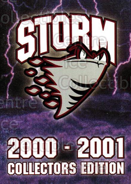 2000-01 Guelph Storm #32 Header Card<br/>1 In Stock - $3.00 each - <a href=https://centericecollectibles.foxycart.com/cart?name=2000-01%20Guelph%20Storm%20%2332%20Header%20Card...&quantity_max=1&price=$3.00&code=540942 class=foxycart> Buy it now! </a>