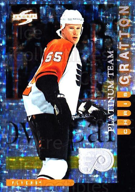 1997-98 Score Philadelphia Flyers Platinum #6 Chris Gratton<br/>1 In Stock - $5.00 each - <a href=https://centericecollectibles.foxycart.com/cart?name=1997-98%20Score%20Philadelphia%20Flyers%20Platinum%20%236%20Chris%20Gratton...&quantity_max=1&price=$5.00&code=541117 class=foxycart> Buy it now! </a>