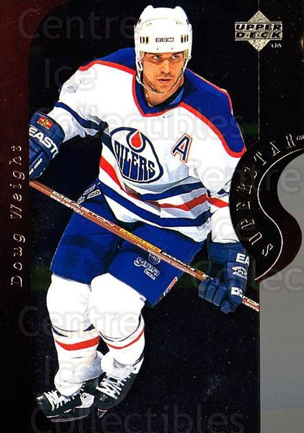 1996-97 Upper Deck Superstar Showdown #17A Doug Weight<br/>4 In Stock - $2.00 each - <a href=https://centericecollectibles.foxycart.com/cart?name=1996-97%20Upper%20Deck%20Superstar%20Showdown%20%2317A%20Doug%20Weight...&quantity_max=4&price=$2.00&code=54123 class=foxycart> Buy it now! </a>