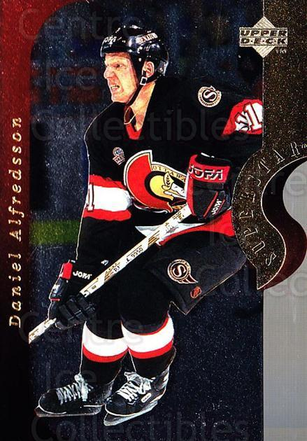 1996-97 Upper Deck Superstar Showdown #18A Daniel Alfredsson<br/>3 In Stock - $2.00 each - <a href=https://centericecollectibles.foxycart.com/cart?name=1996-97%20Upper%20Deck%20Superstar%20Showdown%20%2318A%20Daniel%20Alfredss...&quantity_max=3&price=$2.00&code=54125 class=foxycart> Buy it now! </a>