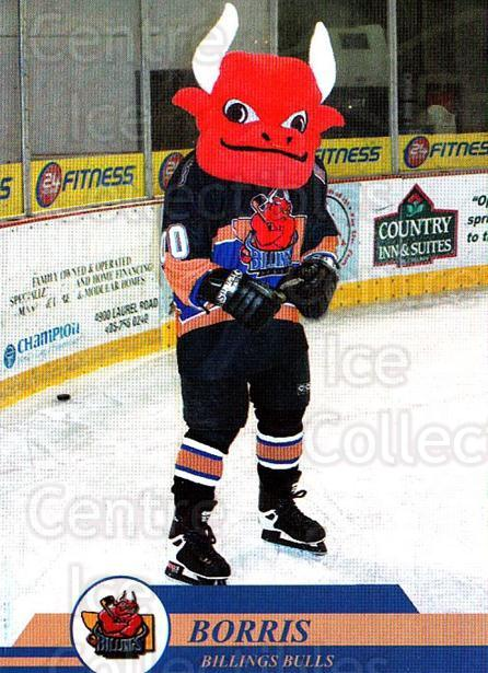 2002-03 Billings Bulls #37 Mascot, Checklist<br/>4 In Stock - $3.00 each - <a href=https://centericecollectibles.foxycart.com/cart?name=2002-03%20Billings%20Bulls%20%2337%20Mascot,%20Checkli...&quantity_max=4&price=$3.00&code=541403 class=foxycart> Buy it now! </a>