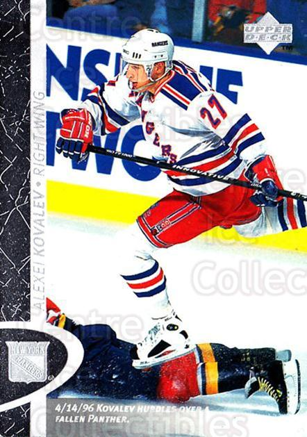 1996-97 Upper Deck #103 Alexei Kovalev<br/>6 In Stock - $1.00 each - <a href=https://centericecollectibles.foxycart.com/cart?name=1996-97%20Upper%20Deck%20%23103%20Alexei%20Kovalev...&quantity_max=6&price=$1.00&code=54164 class=foxycart> Buy it now! </a>