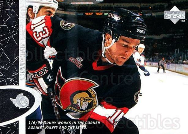 1996-97 Upper Deck #115 Ted Drury<br/>8 In Stock - $1.00 each - <a href=https://centericecollectibles.foxycart.com/cart?name=1996-97%20Upper%20Deck%20%23115%20Ted%20Drury...&quantity_max=8&price=$1.00&code=54176 class=foxycart> Buy it now! </a>