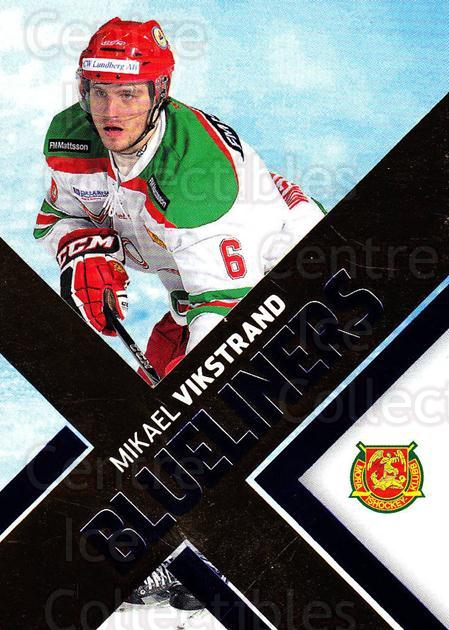 2012-13 Swedish Hockey Allsvenskan BlueLiners #8 Mikael Vikstrand<br/>1 In Stock - $3.00 each - <a href=https://centericecollectibles.foxycart.com/cart?name=2012-13%20Swedish%20Hockey%20Allsvenskan%20BlueLiners%20%238%20Mikael%20Vikstran...&quantity_max=1&price=$3.00&code=541811 class=foxycart> Buy it now! </a>