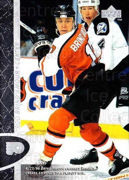 1996-97 Upper Deck #121 Rod Brind'Amour<br/>7 In Stock - $1.00 each - <a href=https://centericecollectibles.foxycart.com/cart?name=1996-97%20Upper%20Deck%20%23121%20Rod%20Brind'Amour...&quantity_max=7&price=$1.00&code=54182 class=foxycart> Buy it now! </a>