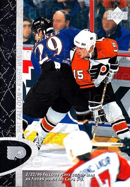 1996-97 Upper Deck #122 Pat Falloon<br/>7 In Stock - $1.00 each - <a href=https://centericecollectibles.foxycart.com/cart?name=1996-97%20Upper%20Deck%20%23122%20Pat%20Falloon...&price=$1.00&code=54183 class=foxycart> Buy it now! </a>