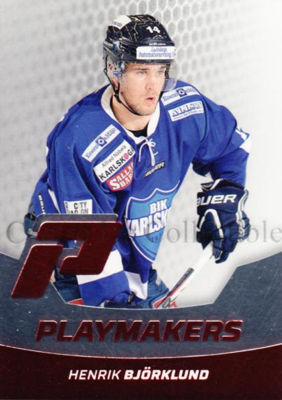 2012-13 Swedish Hockey Allsvenskan Playmakers #3 Henrik Bjorklund<br/>1 In Stock - $3.00 each - <a href=https://centericecollectibles.foxycart.com/cart?name=2012-13%20Swedish%20Hockey%20Allsvenskan%20Playmakers%20%233%20Henrik%20Bjorklun...&price=$3.00&code=541848 class=foxycart> Buy it now! </a>