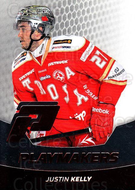 2012-13 Swedish Hockey Allsvenskan Playmakers #12 Justin Kelly<br/>1 In Stock - $3.00 each - <a href=https://centericecollectibles.foxycart.com/cart?name=2012-13%20Swedish%20Hockey%20Allsvenskan%20Playmakers%20%2312%20Justin%20Kelly...&price=$3.00&code=541857 class=foxycart> Buy it now! </a>