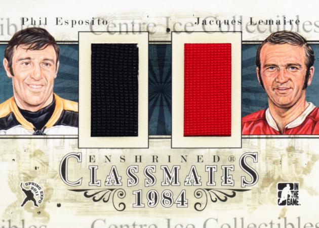 2011 ITG Expo Enshrined Classmates Black #53 Phil Esposito, Jacques Lemaire<br/>1 In Stock - $15.00 each - <a href=https://centericecollectibles.foxycart.com/cart?name=2011%20ITG%20Expo%20Enshrined%20Classmates%20Black%20%2353%20Phil%20Esposito,%20...&quantity_max=1&price=$15.00&code=541924 class=foxycart> Buy it now! </a>