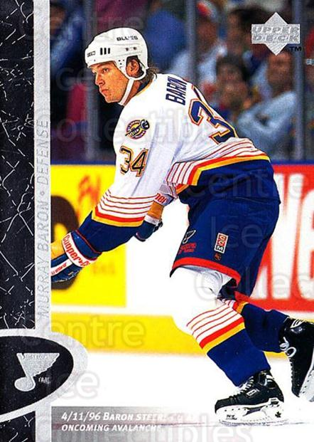 1996-97 Upper Deck #143 Murray Baron<br/>6 In Stock - $1.00 each - <a href=https://centericecollectibles.foxycart.com/cart?name=1996-97%20Upper%20Deck%20%23143%20Murray%20Baron...&quantity_max=6&price=$1.00&code=54205 class=foxycart> Buy it now! </a>