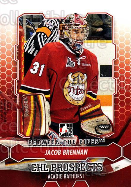 2012-13 Between The Pipes #1 Jacob Brennan<br/>6 In Stock - $1.00 each - <a href=https://centericecollectibles.foxycart.com/cart?name=2012-13%20Between%20The%20Pipes%20%231%20Jacob%20Brennan...&quantity_max=6&price=$1.00&code=542071 class=foxycart> Buy it now! </a>