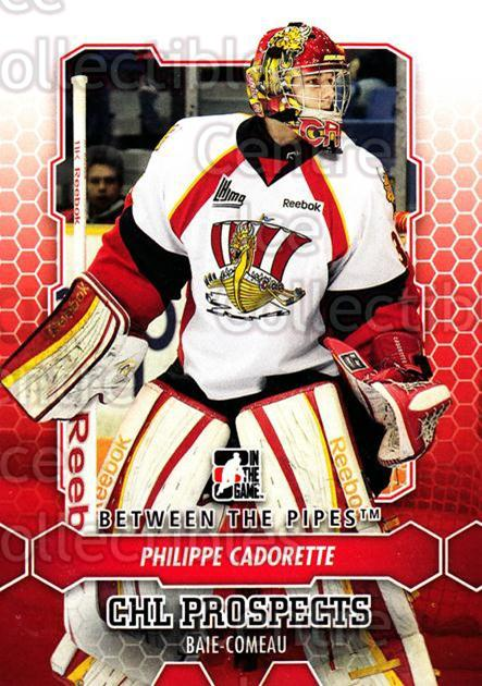 2012-13 Between The Pipes #2 Philippe Cadorette<br/>6 In Stock - $1.00 each - <a href=https://centericecollectibles.foxycart.com/cart?name=2012-13%20Between%20The%20Pipes%20%232%20Philippe%20Cadore...&quantity_max=6&price=$1.00&code=542072 class=foxycart> Buy it now! </a>