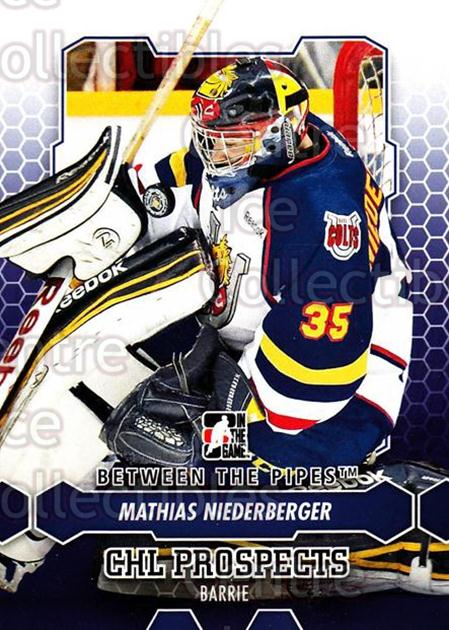 2012-13 Between The Pipes #3 Mathias Niederberger<br/>1 In Stock - $1.00 each - <a href=https://centericecollectibles.foxycart.com/cart?name=2012-13%20Between%20The%20Pipes%20%233%20Mathias%20Niederb...&quantity_max=1&price=$1.00&code=542073 class=foxycart> Buy it now! </a>