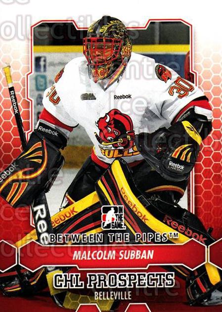 2012-13 Between The Pipes #4 Malcolm Subban<br/>4 In Stock - $1.00 each - <a href=https://centericecollectibles.foxycart.com/cart?name=2012-13%20Between%20The%20Pipes%20%234%20Malcolm%20Subban...&quantity_max=4&price=$1.00&code=542074 class=foxycart> Buy it now! </a>
