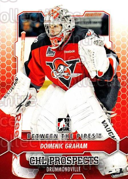 2012-13 Between The Pipes #13 Domenic Graham<br/>7 In Stock - $1.00 each - <a href=https://centericecollectibles.foxycart.com/cart?name=2012-13%20Between%20The%20Pipes%20%2313%20Domenic%20Graham...&quantity_max=7&price=$1.00&code=542083 class=foxycart> Buy it now! </a>