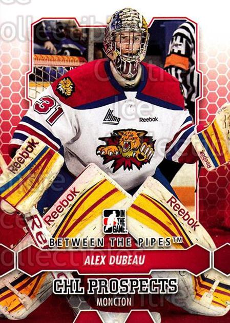 2012-13 Between The Pipes #37 Alex Dubeau<br/>6 In Stock - $1.00 each - <a href=https://centericecollectibles.foxycart.com/cart?name=2012-13%20Between%20The%20Pipes%20%2337%20Alex%20Dubeau...&quantity_max=6&price=$1.00&code=542107 class=foxycart> Buy it now! </a>