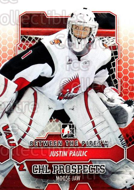 2012-13 Between The Pipes #38 Justin Paulic<br/>7 In Stock - $1.00 each - <a href=https://centericecollectibles.foxycart.com/cart?name=2012-13%20Between%20The%20Pipes%20%2338%20Justin%20Paulic...&quantity_max=7&price=$1.00&code=542108 class=foxycart> Buy it now! </a>