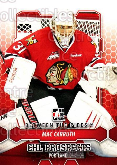 2012-13 Between The Pipes #52 Mac Carruth<br/>7 In Stock - $1.00 each - <a href=https://centericecollectibles.foxycart.com/cart?name=2012-13%20Between%20The%20Pipes%20%2352%20Mac%20Carruth...&quantity_max=7&price=$1.00&code=542122 class=foxycart> Buy it now! </a>